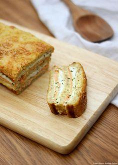 Croque-cake courgette et saumon fumé