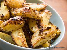 Ofenkartoffeln mit Senfkruste (http://www.kuriositaetenladen.com)