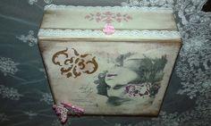 Κουτί μπιζουτιέρα decoupage