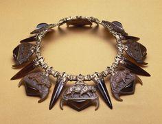 René Lalique, Tiger Necklace (ca. 1903), via Artsy.net