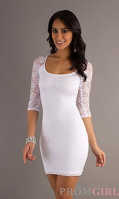 Be sleek and sexy in this lace dress! Perfect for dressing up or down! Find this dress at PromGirl.com