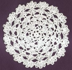 6 inch Round Crocheted Catholic Chapel Veil in White | VelleMere - Crochet on ArtFire