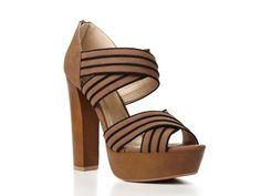Striped Platform Sandal by Qupid
