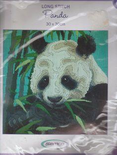 "VERY RARE SEMCO LONG STITCH ""PANDA"" SEALED KIT 30 CM X 30 CM - DMC TAPESTRY WOOL | eBay"