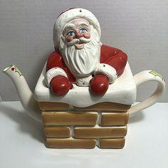Vintage Carlton Ware England SANTA TEA POT #CarltonWare #Christmas Carlton Ware, Red Paint, Vintage Holiday, Santa Hat, Vintage Kitchen, Tea Pots, England, The Unit, Christmas