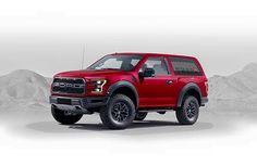 A rendering of a Raptor-Based Ford Bronco