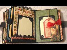 ▶ CHRISTMAS Graphic 45 premade scrapbook album by Cindy~Luv2scrap*4fun - YouTube