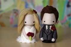 Custom made Wedding dolls (Etsy) #wedding #casamento