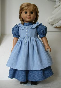 American Girl doll prairie dress and by ExquisitelyUpcycled