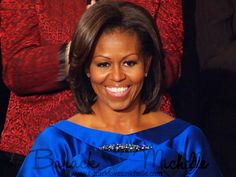First Lady Looks Gorgeous in a Sapphire Satin Dress 2012 SOTU  