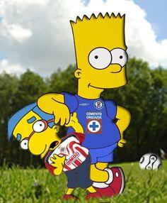 cruz azul football CARTOON | Cruz Azul Simpsons Image - Cruz Azul Simpsons Graphic Code