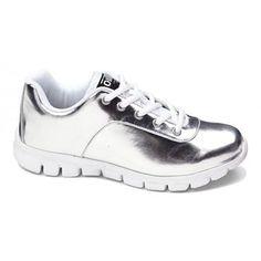Oill sneakers, Tallinn Signature Shoe Girl, sølv - NETSKO - Sko-Børnesko-Damesko-Sandaler-Sommersandaler-Forårssko-Børnesandaler Kid Shoes, Girls Shoes, Walking, My Style, Sneakers, Kids, Tennis, Women, Amazing