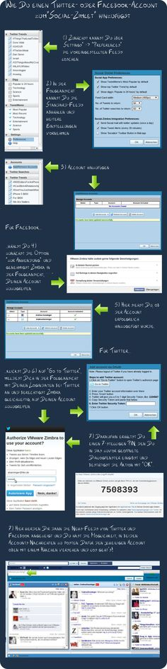 So fügst Du einen Twitter- oder Facebook-Account zum Social-Zimlet hinzu.