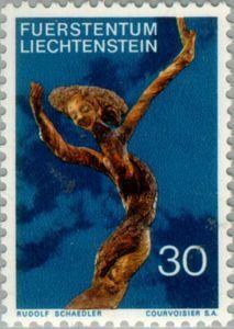 Sello: Woodsculpture (Liechtenstein) (Woodsculpture) Mi:LI 568,Yt:LI 514,Zum:LI 508