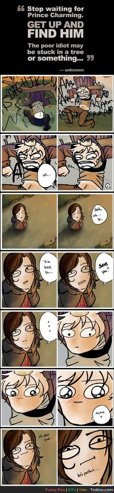 The poor idiot may be stuck in a tree or something. Who ever drew this can read my mind it's rather funny :) <((I honestly only see PruHun from Hetalia. Bd Comics, Cute Comics, Funny Comics, Mini Comic, Cool Stuff, Funny Stuff, Random Stuff, Prince Charming, Funny Cute