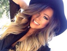 Soft ombre and big curls! Love!