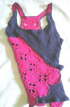 polera  tejida a mano  - crochet y palillo