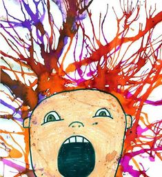 WIND in my HAIR hair dryer or straw blow painting with water color. Could draw face on separate paper, cut out and glue over wind painting Painting People, Painting For Kids, Drawing People, Art For Kids, Love Drawings, Cartoon Drawings, Art Drawings, Blow Paint, Straw Art