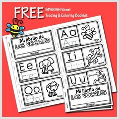 FREE Spanish Vowel Tracing and Coloring Booklet for Preschoolers