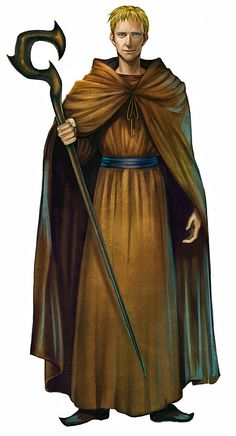 Basic Caucasian male mage, wizard, monk character. Reminds me of Paul Bettany from A Knight's Tale.
