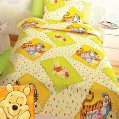 Winnie The Pooh, Comforters, Quilts, Blanket, Bed, Home, Creature Comforts, Winnie The Pooh Ears, Stream Bed