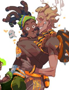 This is basically a dump where I just put random and amazing Overwatch Art and the like. come join the fandom fun if you want :') Overwatch Drawings, Overwatch Fan Art, Beach Rats, Character Concept, Character Design, Junkrat And Roadhog, Yuri, Boombox, Anime Couples