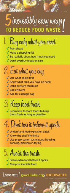 Five Easy Ways to Reduce Food Waste! #foodwaste