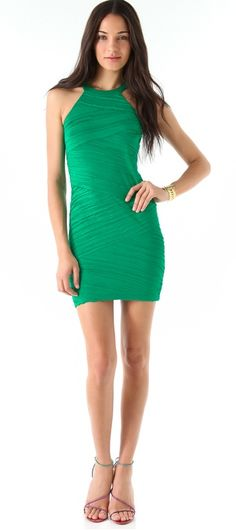 Torn by Ronny Kobo Brooklyn Solid Pleated Dress - Green, $246.00 (http://www.jessieboutique.com/products/torn-by-ronny-kobo-brooklyn-solid-pleated-dress-green.html)