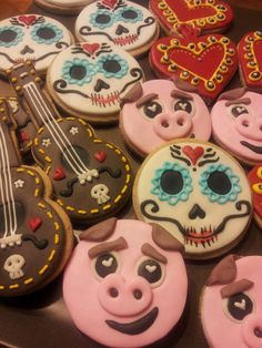 Book of life cookies Galletas de el libro de la vida :)
