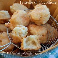 Frittelle di cavolfiore soffici con pastella lievitata, ricetta facile e gustosa. Il cavolo in pastella è un secondo di verdure o un antipasto stuzzicante