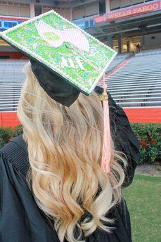 Devon Alana : Lilly Pulitzer Inspired Graduation Cap