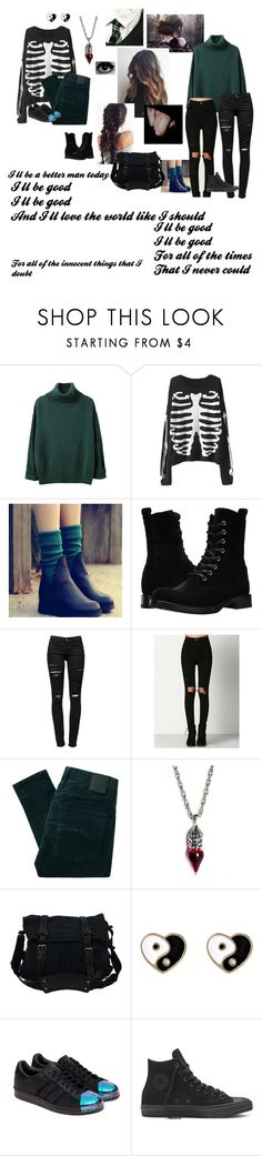 """I'll be good...for all of the times that I never could"" by haileyscomet95 ❤ liked on Polyvore featuring Frye, Frame, Nobody Denim, Belstaff, Accessorize and adidas Originals"