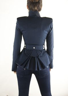 etsy shop lauragalic DIna Jacket Navy by lauragalic on Etsy