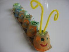 egg carton catapillar