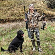 #TeamGWG's Whitney & her sidekick Charlie got their first greenhead of the season! If you need new gear before your Waterfowl Season, check out the Girls With Guns Clothing line of women's hunting gear for duck hunting!