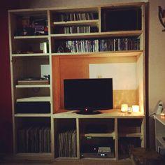 Steigerhouten tv-kast
