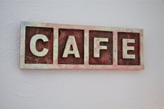 Rustic Cafe Birch Wood Sign by PiccadillySignsDecor on Etsy, $25.00