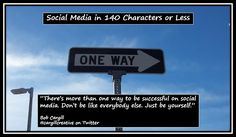 There's more than one way to be successful on #SocialMedia. Don't be like everybody else. Just be yourself.