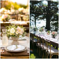 eucalyptus and white flower table arrangements - Google Search