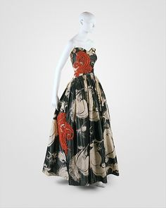 """~""""Fusée"""" House of Lanvin (French, founded 1889) Designer: Jeanne Lanvin (French, 1867–1946) Date: 1938 Culture: French Medium: silk~"""