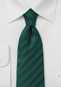 Streifen-Krawatte edelgrün