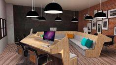 Sala de criação - Projeto interiores corporativos Maria Carolina Valim, Matheus Nicacio e Camila Ramundo