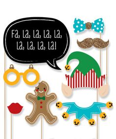 Look at this #zulilyfind! Christmas Party Photo Booth Prop Kit #zulilyfinds