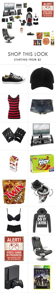 """""""Gamer Girl"""" by queenharley666 ❤ liked on Polyvore featuring Converse, rag & bone, Dolce&Gabbana, Hollister Co., CorLiving, FRUIT, Nintendo, Marie Meili, WearAll and Ace Bayou"""