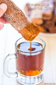 Cinnamon Sugar French Toast Sticks - sugary sweetness mmm...