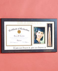 Celebrate your graduate's big accomplishment with the Graduation Frame Collection.Each lovely frame commemorates how far they've come. The Diploma/Tassel