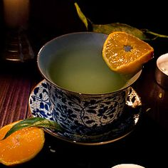 Mandarin orange ginger tea spiced with fennel seeds and sweetened with honey.