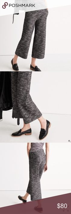 NWT Madewell Marled Wide Leg Pants New with tags; totally sold out! Retailed for $98. PRODUCT DETAILS Wear-everywhere marled pants made from a luxe textural blend of wool and cotton. The roomy wide leg makes these a wardrobe standout worthy of dressed-down sneaks or dressed-up oxfords. Madewell Pants Wide Leg