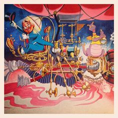 Dreamfinder and Figment - This is how I remember the Figment ride in EPCOT, not the new version that is there now...I miss the old ride.