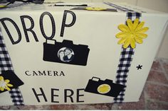I love this disposable camera drop box. See your wedding (or other special occasion) from the eyes of your guests! LOVE!